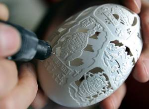 Eggshell Carving In Xi'an