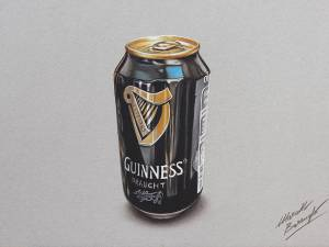 Drawing A Can Of Guinness By Marcellobarenghi-d6kfpqy
