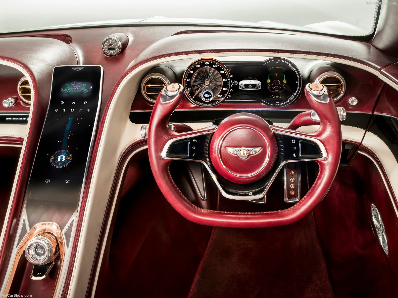 bentley exp 12 speed 6e hmi cluster ui дизайн